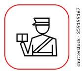passport control | Shutterstock .eps vector #359199167