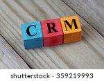 crm text  customer relationship ... | Shutterstock . vector #359219993
