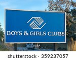 Small photo of PASADENA, CA/USA - JANUARY 2, 2016: Boys & Girls Club sign and logo. Boys & Girls Clubs of America is a national providing after-school programs for young people.