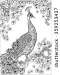 Coloring Book Pages .peacock  ...