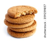 stack of ginger biscuits with... | Shutterstock . vector #359259857