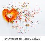 sweet symbol of love. lollipop... | Shutterstock . vector #359262623