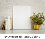 white mock up frame  hipster... | Shutterstock . vector #359281547