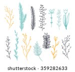 set of branches for decoration. ...   Shutterstock .eps vector #359282633