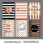 vector set valentines day... | Shutterstock .eps vector #359289023