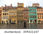 old town sqare in warsaw in a... | Shutterstock . vector #359321147