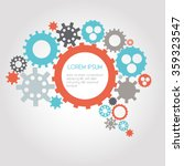 infographic design gears  brain ... | Shutterstock .eps vector #359323547