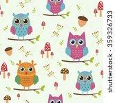 forest seamless pattern with... | Shutterstock .eps vector #359326733