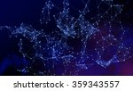 abstract network background.... | Shutterstock . vector #359343557