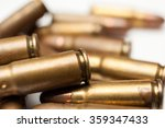 9mm Bullet For A Gun Isolated...