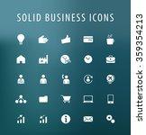 set of 25 universal business... | Shutterstock .eps vector #359354213