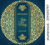 elegant save the date card... | Shutterstock .eps vector #359355797