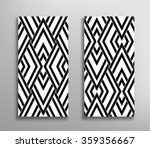 two black and white vector... | Shutterstock .eps vector #359356667