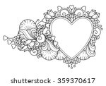 decorative love frame... | Shutterstock .eps vector #359370617
