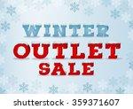 winter outlet sale inscription...