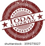 today is your day rubber stamp... | Shutterstock .eps vector #359375027