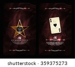 vintage stye casino card... | Shutterstock .eps vector #359375273