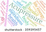 acupressure word cloud on a... | Shutterstock .eps vector #359395457