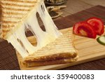 toasted cheddar cheese sandwich ... | Shutterstock . vector #359400083