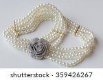 a string of necklaces on  white ... | Shutterstock . vector #359426267