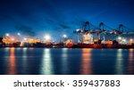 container cargo freight ship... | Shutterstock . vector #359437883