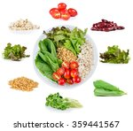 millet grains  barley lettuce... | Shutterstock . vector #359441567