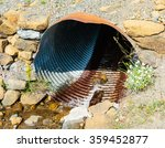Rusted Corrugated Culvert Pipe...