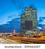 Scenery Of Tel Aviv Skyscraper...