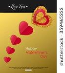 valentine's day poster  banner  ... | Shutterstock .eps vector #359465333