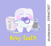baby tooth vector illustration... | Shutterstock .eps vector #359467307