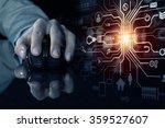 businessman using mouse | Shutterstock . vector #359527607