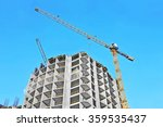 crane and building construction ... | Shutterstock . vector #359535437