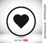 heart icon. one of set web icons   Shutterstock .eps vector #359536283