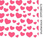 heart love seamless pattern... | Shutterstock .eps vector #359538473