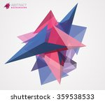 abstract triangles background.... | Shutterstock .eps vector #359538533