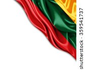 lithuania  flag of silk with... | Shutterstock . vector #359541737