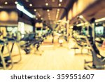 abstract blur fitness gym room... | Shutterstock . vector #359551607