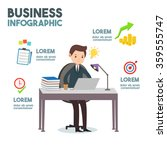 business infographic   business ...   Shutterstock .eps vector #359555747