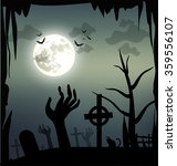 spooky halloween illustration... | Shutterstock .eps vector #359556107