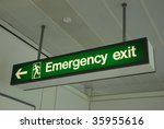 Photo Of A Emergency Sign At A...