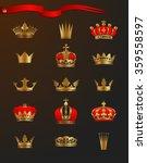 golden crowns | Shutterstock .eps vector #359558597