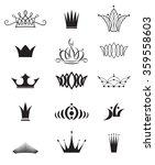 modern crowns   Shutterstock .eps vector #359558603