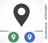 map pointer flat icon. vector ...