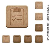 set of carved wooden checklist...