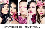 fashion beauty faces. set of... | Shutterstock . vector #359590073