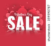 valentine's day sale. letters... | Shutterstock .eps vector #359590787