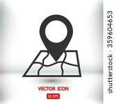 map with pointer icon  vector...