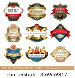 vector luxury labels | Shutterstock .eps vector #359659817