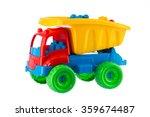 Colorful toy truck isolated on...