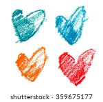 Various Colors Of Sketch Shape...